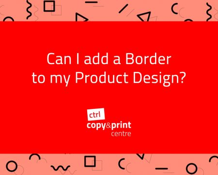 Can I add a Border to my Product Design?