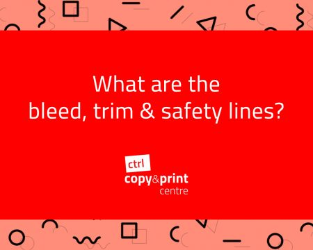 What are the bleed, trim & safety lines?