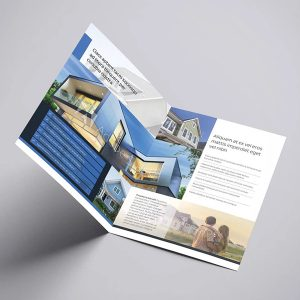 half fold brochure print