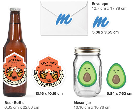 labels size guide