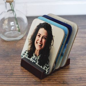 personalised photo drinks coasters