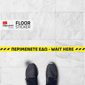 keep distance floor sticker