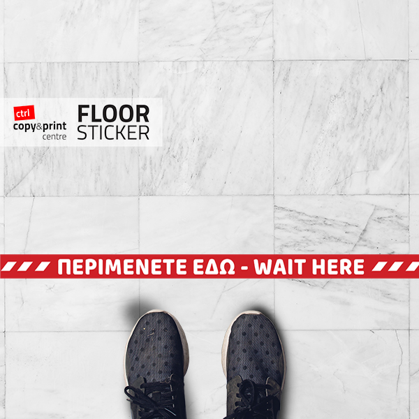 wait here floor sticker