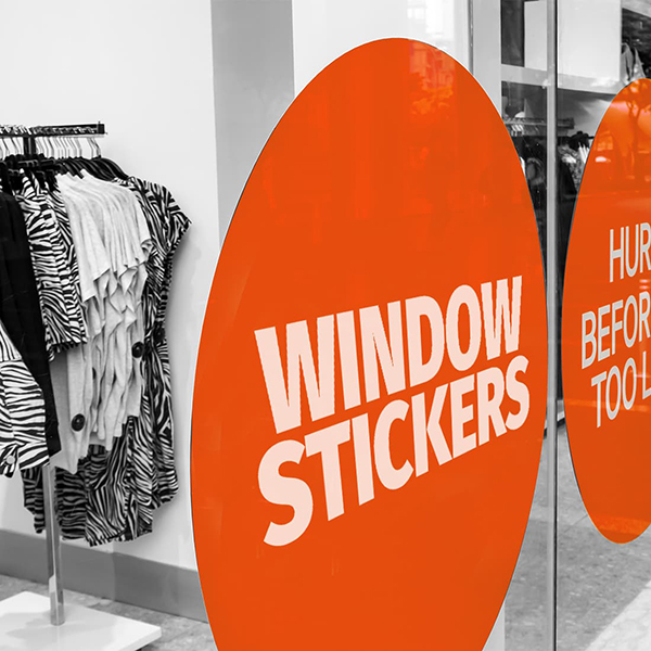 window sticker printing