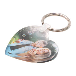 custom keyring acrylic heart