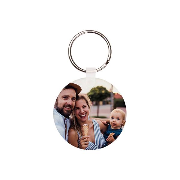 custom keyring acrylic round